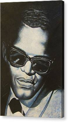 ray Charles Canvas Print by Darryl Matthews