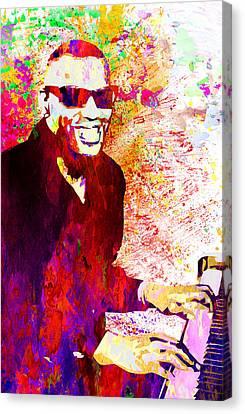 Ray Charles Canvas Print