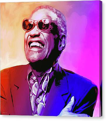 Ray Charles Canvas Print by Greg Joens