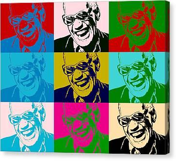 Ray Charles Pop Art Poster Canvas Print