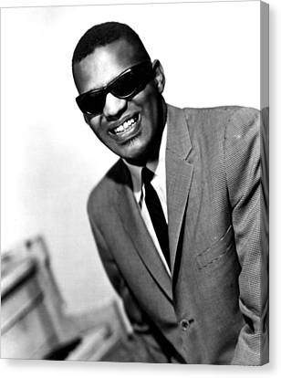 Ray Charles, Portrait Ca. 1966 Canvas Print by Everett
