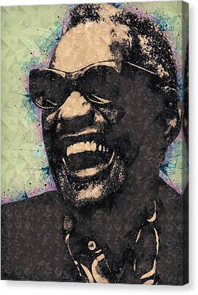Pop Culture Canvas Print - Ray Charles Portrait by Studio Grafiikka