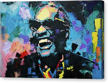 Canvas Print featuring the painting Ray Charles by Richard Day