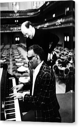 Ray Charles, With Conductorcomposer Canvas Print by Everett