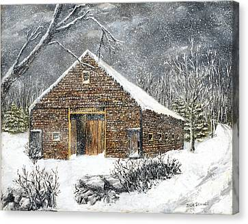 Ray Emerson's Old Barn Canvas Print by Jack Skinner