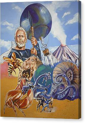 Canvas Print featuring the painting Ray Harryhausen Tribute The Mysterious Island by Bryan Bustard