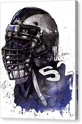 Ray Lewis -  Last Game Canvas Print by Michael  Pattison
