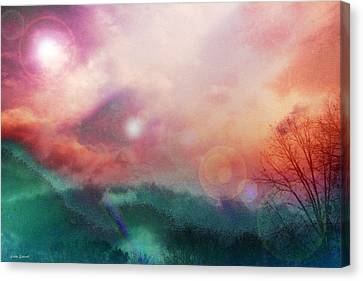 Energy Art Movement Canvas Print - Ray Of Hope by Linda Sannuti