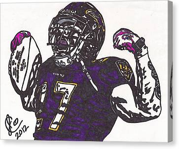 Canvas Print featuring the drawing Ray Rice 1 by Jeremiah Colley