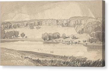 Raynham Hall, Norfolk Canvas Print by John Sell Cotman