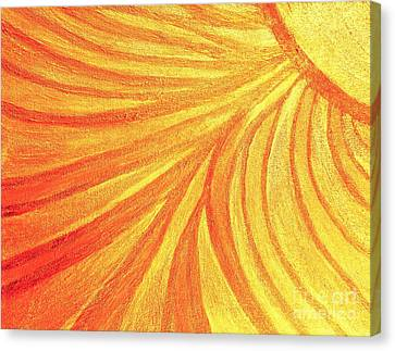 Rays Of Healing Light Canvas Print by Rachel Hannah