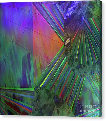 Rays Of Living Canvas Print by Linda Troski