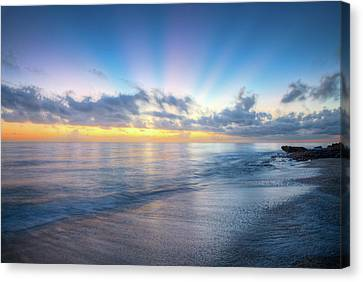 Canvas Print featuring the photograph Rays Over The Reef by Debra and Dave Vanderlaan