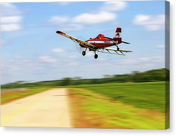 Razorback Flyby - Crop Duster - Ag Pilot Canvas Print by Jason Politte