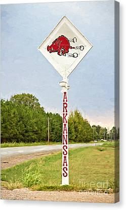 Razorback Sign Canvas Print by Scott Pellegrin