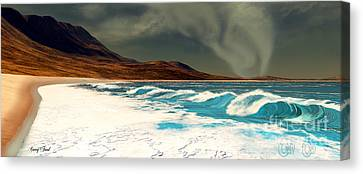 Razor's Edge Canvas Print by Corey Ford
