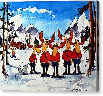 Rcmp  Detachment At Fort Macmoose  Canvas Print by Wilfred McOstrich