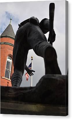 Reach For The Flag Canvas Print by Nicholas Trietsch