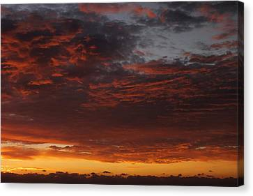Red Skies Canvas Print - Reach For The Sky 12 by Mike McGlothlen