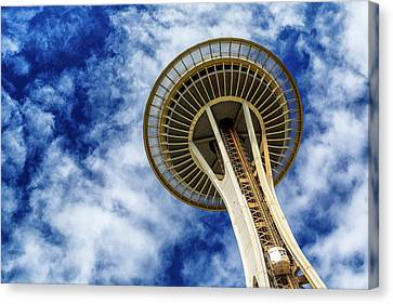 Reach For The Sky - Seattle Space Needle Canvas Print by Stephen Stookey