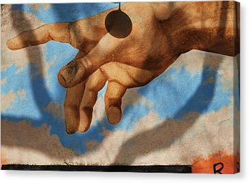 Reach Out Beverly Hills Canvas Print by Todd Sherlock