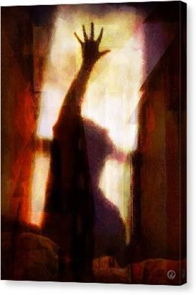 Canvas Print featuring the digital art Reaching For The Light by Gun Legler