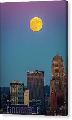 Reaching For The Moon Canvas Print by Randall Branham