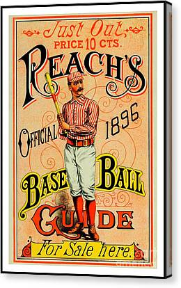 Reachs Official 1896 Baseball Guide Canvas Print by Peter Gumaer Ogden Collection