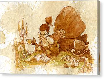 Reading Canvas Print by Brian Kesinger