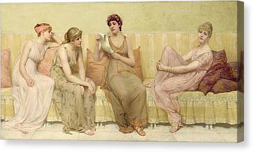 Francis Canvas Print - Reading The Story Of Oenone by Francis Davis Millet