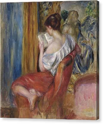 Reading Woman  1900 Canvas Print