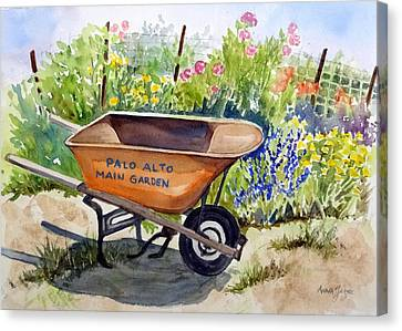 Ready At The Main Garden Canvas Print