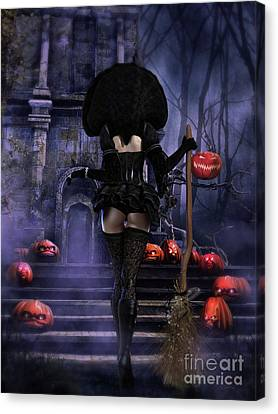 Ready Boys Halloween Witch Canvas Print