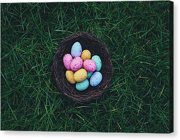 Egg Canvas Print - ready for Easter by Happy Home Artistry