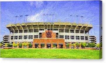 Ready For Gameday At Jordan Hare Canvas Print by JC Findley
