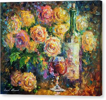 Ready For Her  Canvas Print by Leonid Afremov
