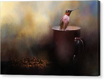 Ready For Morning Coffee - Hummingbird Art Canvas Print