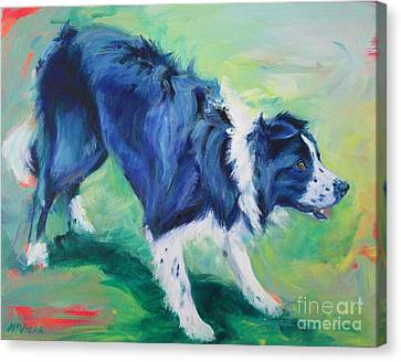 Ready To Fly - Border Collie Canvas Print