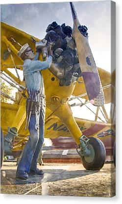 Ready To Fly Canvas Print by Ricky Barnard