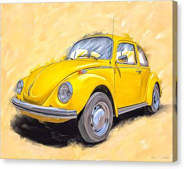1960 Canvas Print - Ready To Go - Vintage Bug by Mark Tisdale