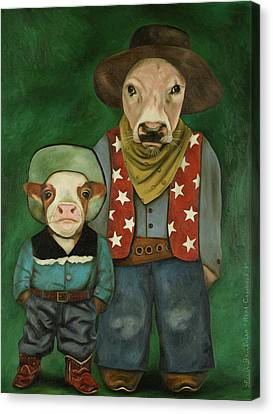Canvas Print - Real Cowboys 3 by Leah Saulnier The Painting Maniac