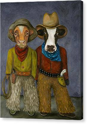 Real Cowboys Canvas Print by Leah Saulnier The Painting Maniac