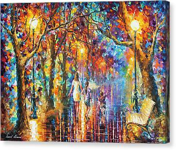 Real Dreams   Canvas Print by Leonid Afremov