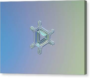 Real Snowflake Photo - Emerald Canvas Print by Alexey Kljatov