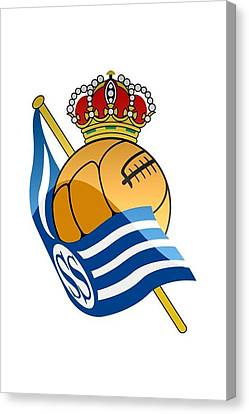 Real Sociedad De Futbol Sad Canvas Print by David Linhart