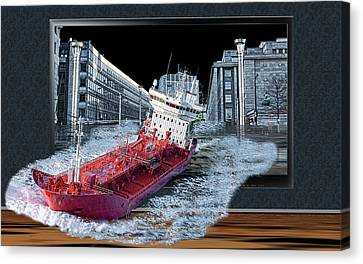 Reality Tv Canvas Print by Angel Jesus De la Fuente