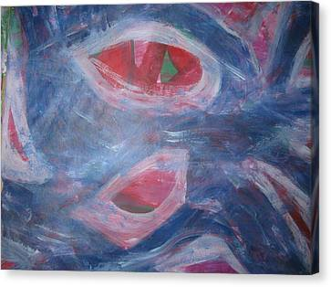 Reality's Impersonal Eye Canvas Print by Paula Andrea Pyle