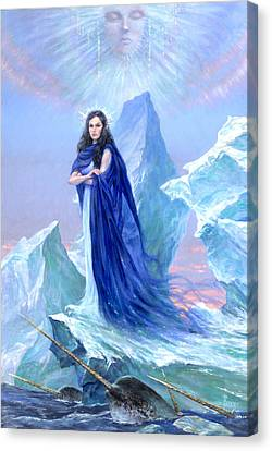 Realm Of The Ice Queen Canvas Print by Richard Hescox