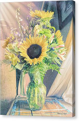 Reared In The Lap Of Summer Canvas Print