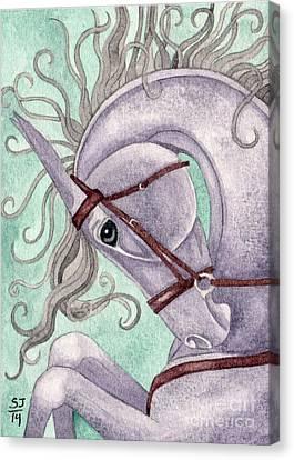 Rearing Amethyst Horse Canvas Print by Suzanne Joyner